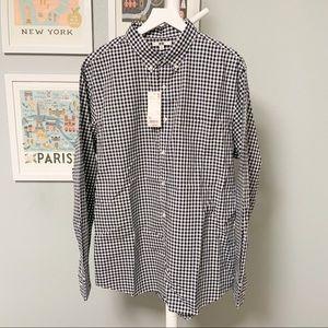 Uniqlo Checkered Navy Button-Down Shirt XL